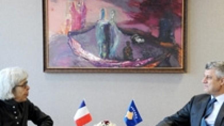 Thaçi: Mbështetja e Francës e një rëndësie të veçantë