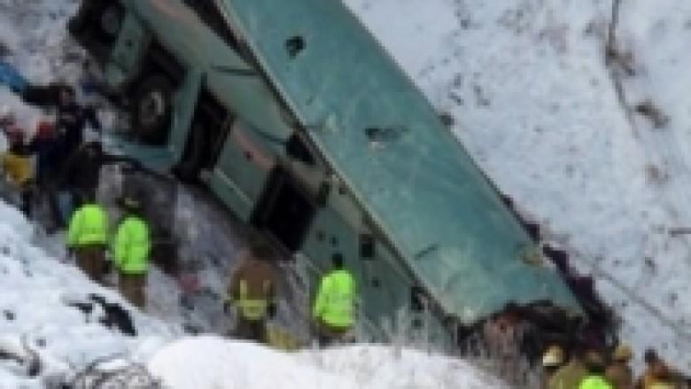 SHBA, autobusi në humnerë, nëntë të vdekur