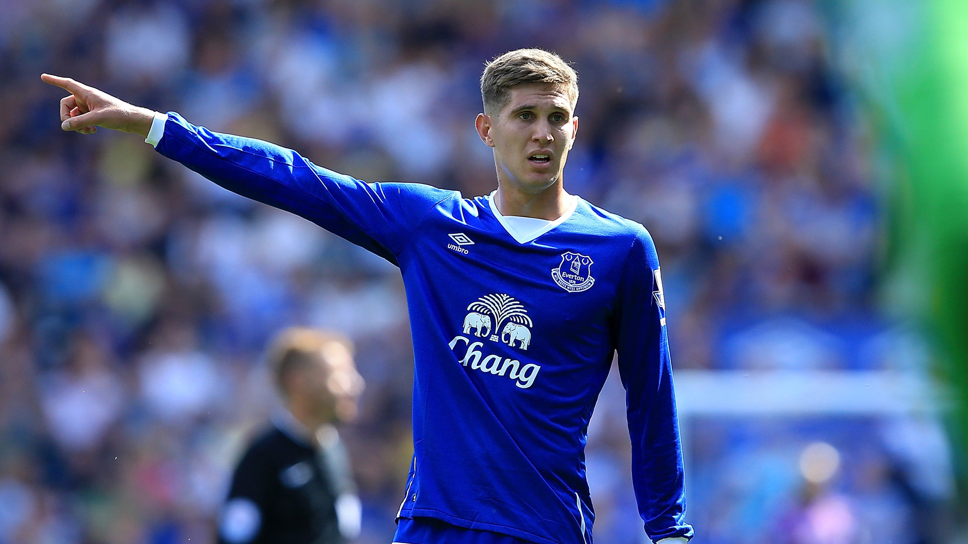 LIVERPOOL, ENGLAND - AUGUST 08: John Stones of Everton during the Barclays Premier League match between Everton and Watford at Goodison Park on August 8, 2015 in Liverpool, England. (Photo by Jan Kruger/Getty Images)