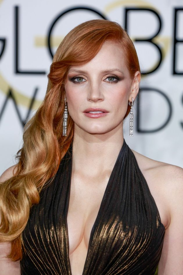 Beverly Hills, CA - Jessica Chastain at the 72nd Annual Golden Globe Awards held at the Beverly Hilton. January 12, 2015, Image: 215166371, License: Rights-managed, Restrictions: USA ONLY, Model Release: no, Credit line: Profimedia, AKM images