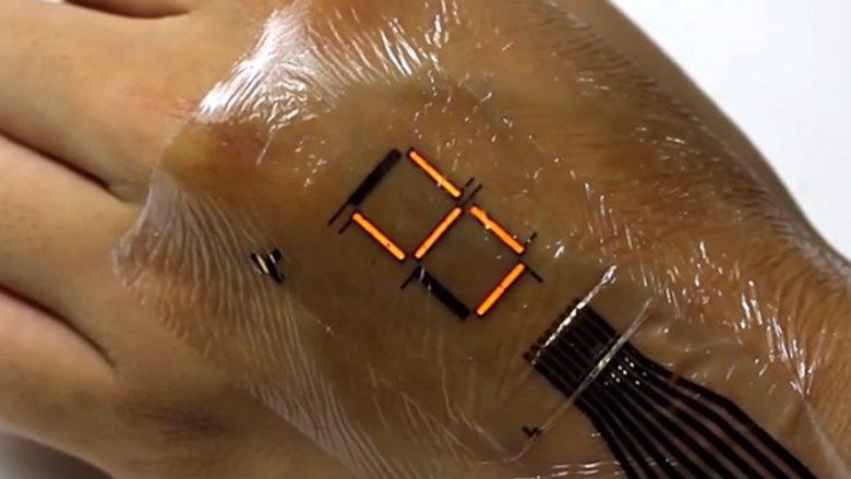 Shpiket lëkura elektronike që e monitoron dhe e shfaq shëndetin e zemrës (VIDEO)