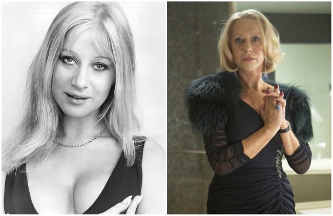 Helen Mirren, 25 dhe 70 vjeç