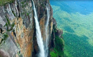 Pamjet mahnitëse të ujëvarës më të lartë në botë, të kapura nga droni (Video)