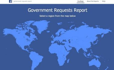 Facebook publikon raportin e transparencës, rritet numri i kërkesave nga Qeveria e Kosovës