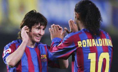 Sot 11-të vite më parë bota u njohë me magjinë e Messit, gjithçka e filluar nga asistimi meastral i Ronaldinhos (Video)