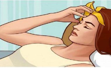 Nuk do të besoni se çfarë sëmundje shëroni nëse flini me lëvore të bananes në kokë