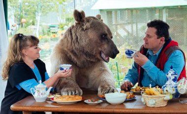 Çifti i çuditshëm: Në një shtëpi me ariun gjigant (Foto/Video)