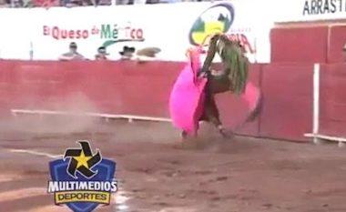 Momenti kur matadori hidhet në ajër nga demi (Video, +18)
