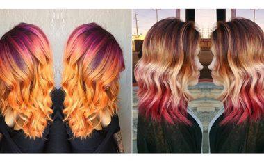 Ngjyra e re e flokëve për femra, inspiruar nga perëndimi i diellit