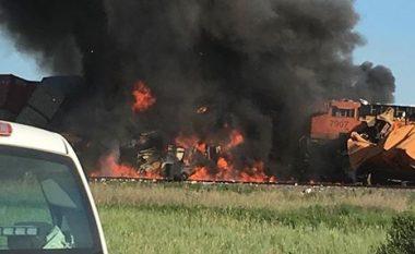 Përplasen dy trena në Teksas (Foto)