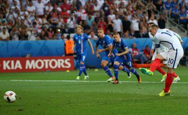 Dy gola për dy minuta në ndeshjen Angli-Islandë (Video)