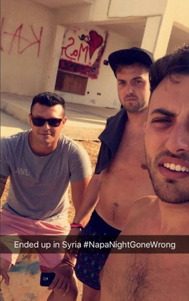 James Wallman, Alex McCormick, Lewis Ellis ended up in Syria after a night out.