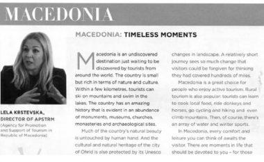 Maqedonia në Aspire Magazine, edicion special për turizëm luksoz