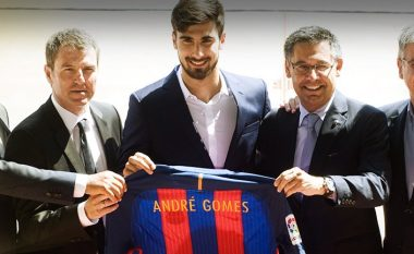 Andre Gomes prezantohet te Barcelona (Video)