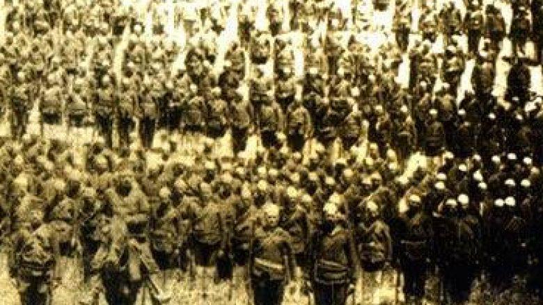 Pamje e vitit 1880: Ushtarët me plisa të Batalionit të Prizrenit, që Sulltani i dekoroi për heroizëm në luftën kundër Greqisë (Foto)