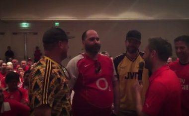 Tifozët e Arsenalit i kushtojnë këngë Xhakës (Video)