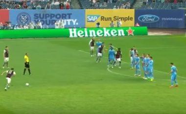 Gashi shënon gol të bukur nga gjuajta e lirë (Video)