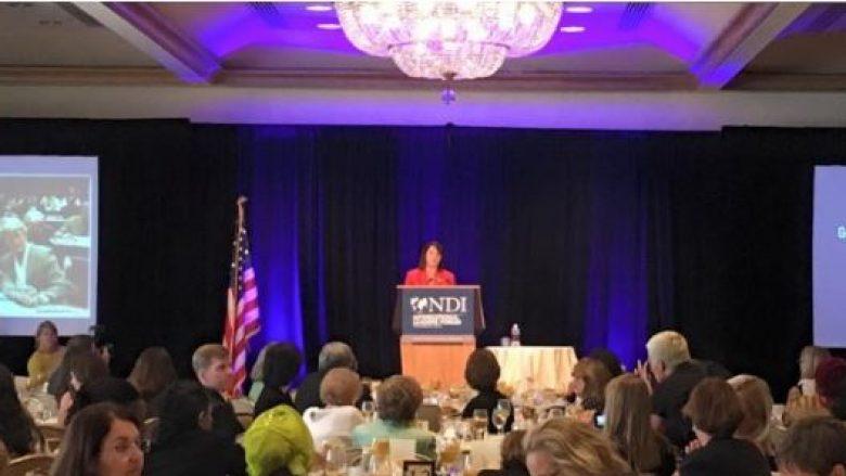 Jahjaga mban fjalim në kuadër të Konventës së Demokratëve