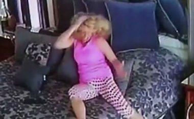 Akuzohej nga ish-e fejuara për dhune fizike, por ai publikon videon ku ajo shihet duke goditur veten (Foto/Video, +16)