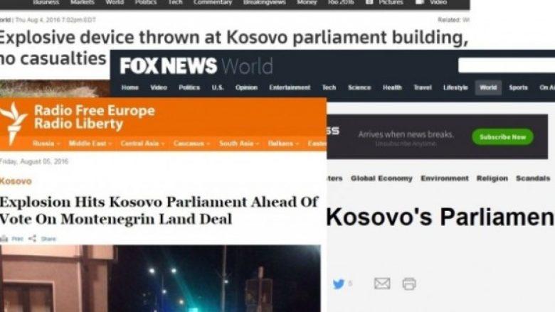 Edhe mediat e huaja raportuan për sulmin mbi Kuvend