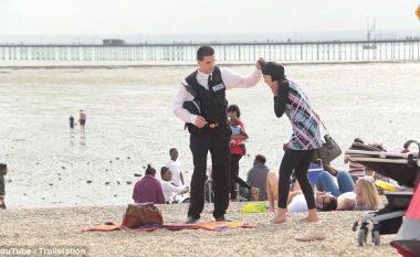 "Polici i heq mbulesën ""myslimanes"", shihni reagimin e britanikëve (Video)"