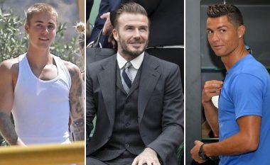 Ronaldo dhe Beckham në film me Justin Bieberin (Video)