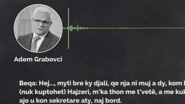 Dosja e Shefave: Intervenimi i Grabovcit për kushëririn e kreut të Administratës Tatimore (Audio)