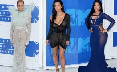 Beteja e të pasmëve! Beyonce, Kim Kardashian dhe Nicki Minaj befasojnë gjatë tapetit të kuq në MTV 2016 (Foto)