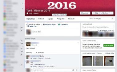 Testi i Maturës sërish rrjedh në Facebook
