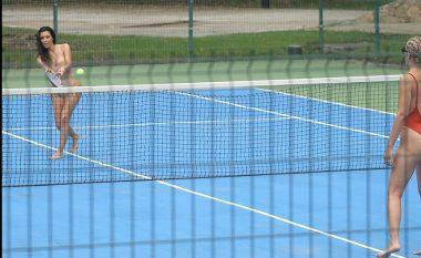 Jeni ndjekës i tenisit? Pak rëndësi ka, pasi aty është Kim Kardashian (Foto)