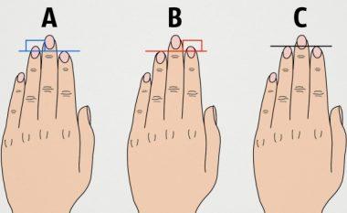 Çfarë tregon gjatësia e gishtërinjve për personalitetin tuaj?