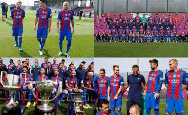 Barcelona bën foton e skuadrës me punonjësit e klubit