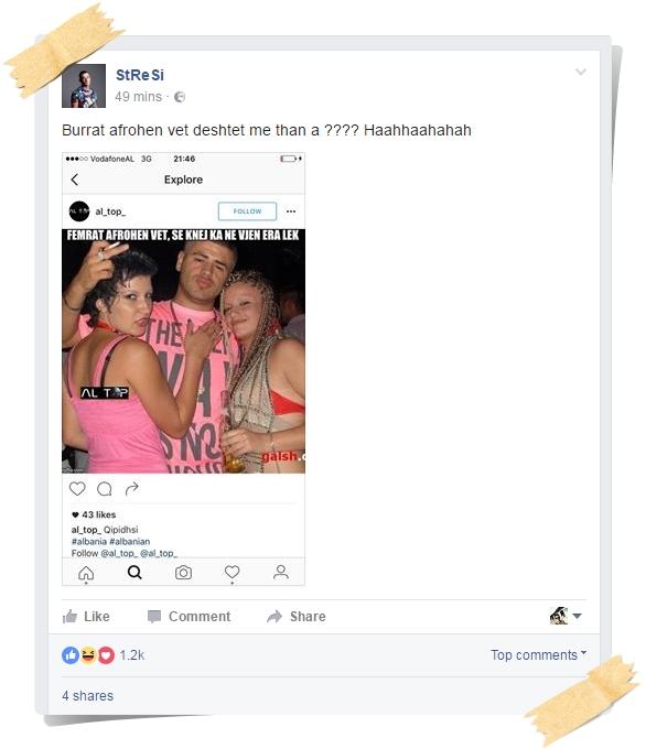Postimi i Stresit në Facebook.