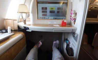 Shihni çfarë fluturimi bëni kur bileta kushton 21.635 dollarë (Video)