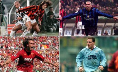 Nga Ronaldo e Zidane te Baggio e Maldini, kjo është epoka e artë e Serie A (Foto)