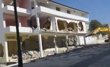 Nuk ka nevojë për tritol, ja si i bëjnë shembjet e ndërtesave shqiptarët (Video)
