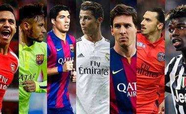 Këta janë futbollistët që kanë ndikuar në më shumë gola këtë sezon (Foto)
