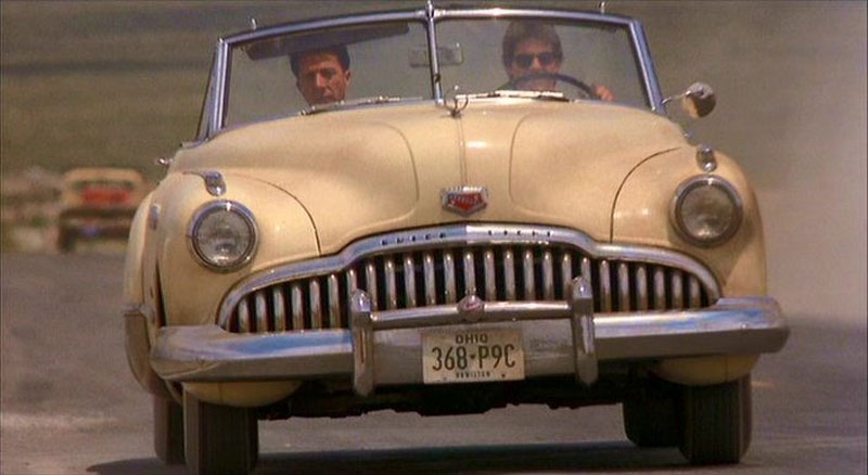 One of two used 1949 Buick Roadmaster convertible in the Tom Cruise and Dustin Hoffman The Rain Man movie, at auction in Dallas