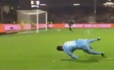 Celnia shënoi gol të bukur, por festimi nuk i doli mirë (Video)