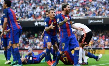 Zbulohen fjalë fyese të Messit drejt tifozëve të Velencias, por argjentinasi nuk harroi edhe t'i tallë ata në fund (Video)