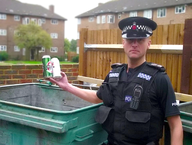 A PC who headed up an anti-drinking campaign has lost his driving licence after getting caught behind the wheel while over the limit. Idiotic PC Matthew Hall drank two cans of beer after a stressful day at work before getting behind the wheel. The 42-year-old Surrey Police officer was pulled over by fellow coppers in Epsom.