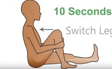 Ushtrimet 1-minutëshe për t'i larguar dhimbjet e nervit shiatik (Video)