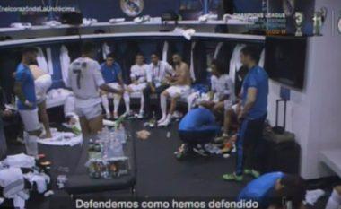 Publikohet fjalimi motivues i CR7 para bashkëlojtarëve në finalen e Ligës së Kampionëve ndaj Atleticos (Video)