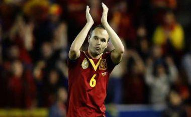 Del Bosque i ngazëllyer që Iniesta luan ndaj Shqipërisë