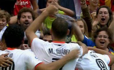 Valencia përmbys rezultatin, i shënon dy gola të shpejt Barcelonës (Video)