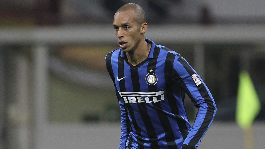 MILAN, ITALY - APRIL 23:  Joao Miranda of FC Internazionale Milano in action during the Serie A match between FC Internazionale Milano and Udinese Calcio at Stadio Giuseppe Meazza on April 23, 2016 in Milan, Italy.  (Photo by Marco Luzzani/Getty Images)